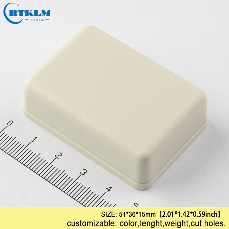 Plastic Enclosure Electronic Project Box Small Pcd Diy Design Wire Connection Box Abs Plastic Junction Box 51*36*15mm IP55 Black