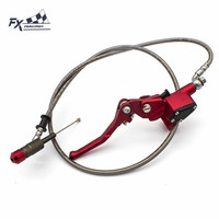 Universal 22mm Motorcycle Dirt Pit Bike Clutch Master Cylinder Reservoir Pump Lever Hydraulic Clutch Lever With