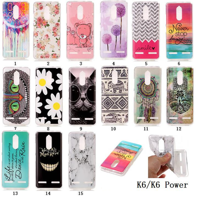 huge discount 071ca 7f80f US $1.99 |15 Painted Patterns Lenovo K6 Power Case Cover Luxury Soft  Painted TPU Phone Cases For Lenovo K6 Power Case Silicone Back Cover-in ...