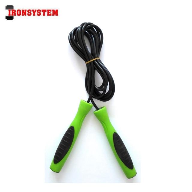 Frete Grátis Crossfit Fitness Equipment PVC Ajustável Comprimento Da Corda  de Pular Exercício de Musculação Rolamento ce1e51de76306