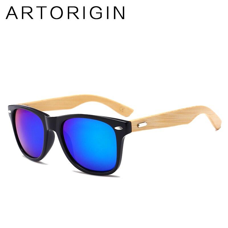 ARTORIGIN Real Bamboo Sunglasses Women Wood Sunglass Men Vintage Square Mirror Sun Glasses 2140 Oculos Lunettes UV400