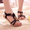 Brand Summer Shoes Woman Bohemia Beaded Flat Sandals Beach Sandals Women Shoes sandalias zapatos mujer Sapato Feminino RD642454