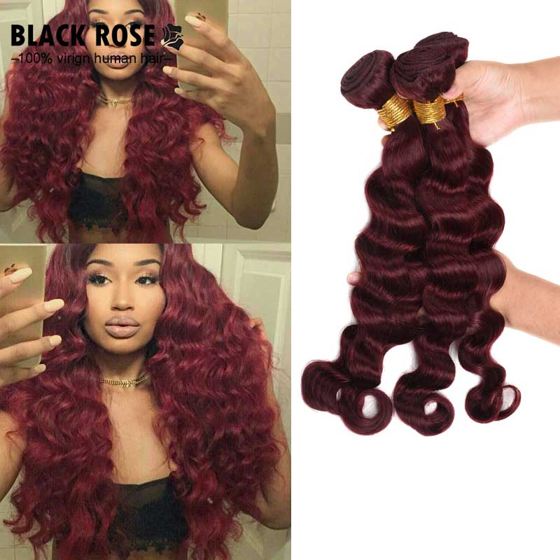 Virgin Hair Loose Wave 4 Bundle Deals Brazilian Loose Wave Hair