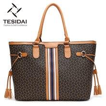 New style 2016 women shoulder bags high quality designer handbags female fashion print bags tassel bag ladies big bags TDS117
