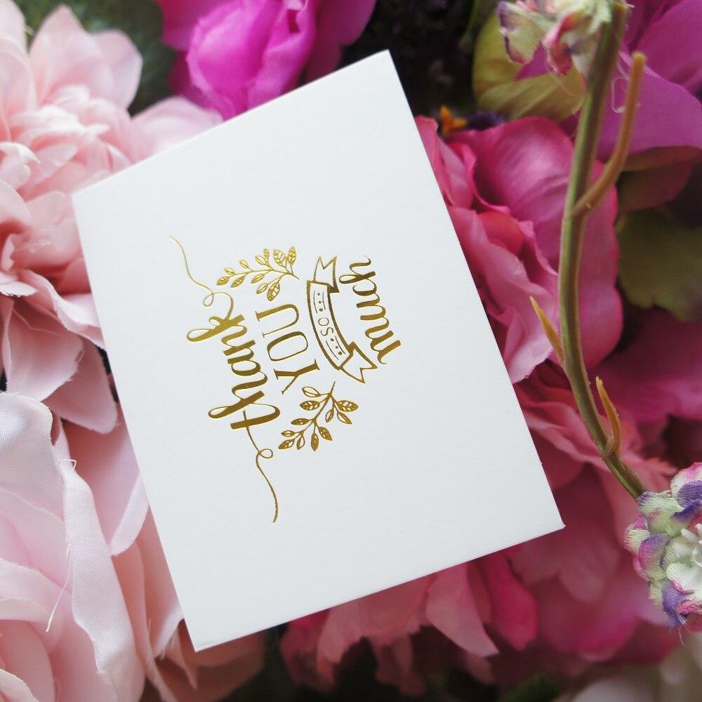 25 Stücke Mini Danke Karte Gold Mit Rosa Umschlag Lassen Nachricht Karten  Lucky Love Valentinstag Weihnachten Party Einladung Brief In 25 Stücke Mini  Danke ...
