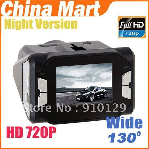 New Car HD 720P Night Vision Vehicle Camcorder DVR Road Recorder Free Shipping + Drop Shipping