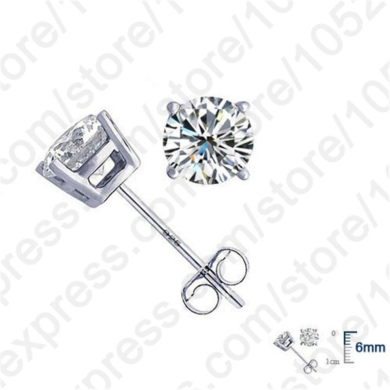Jemmin Elegant Echtes 925 Sterling Silber Kristall Ohrstecker Feine - Edlen Schmuck - Foto 3