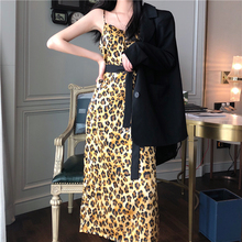 YICIYA Sexy Women Two Piece Outfits  2 Skirt Sets vintage Leopard Dress and Small Suit Jacket Clothes 2019