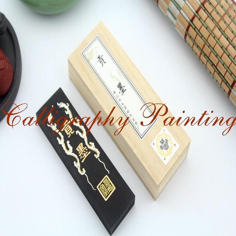 Best Super Fine Oil Soot InkStick Hukaiwen Brush Calligraphy Painting Sumi-E 62g fine pure pine soot inkstick hukaiwen brush ink calligraphy painting sumi e