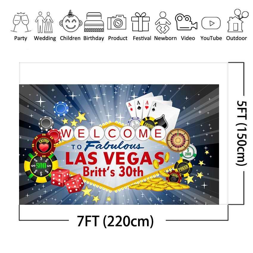 Las Vegas miasto w nocy fotografia tło dla dorosłych kasyno Party niestandardowe tło dekoracji urodziny dla zdjęć Photo Backdrops