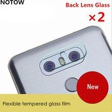 NOTOW 2pcs/lot flexible Rear Transparent Camera Lens Tempered Glass Film Protector For LG
