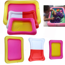 Inflatable Sand Tray Sand Pool Play Child Kids Indoor Large Castle Sand Box Sandbox Slime Mud Pool Outdoor Toys for Children(China)
