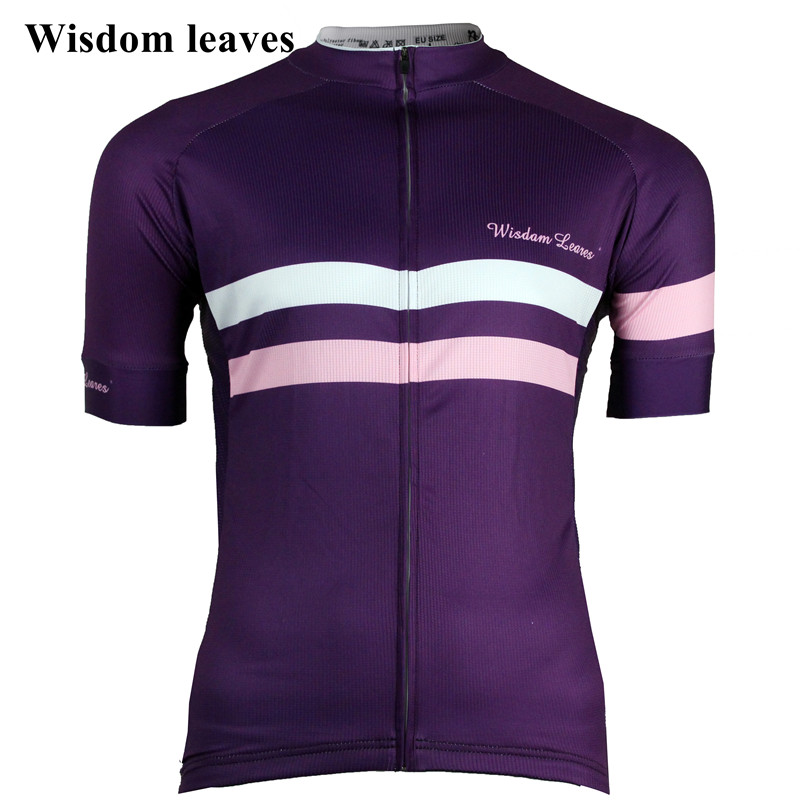 Sabiduría hojas 2017 hombres ciclismo Jersey camiseta ropa mujer bicicleta maillot ciclismo equipos equipo ropa ciclismo camisa ciclismo