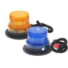 Ambra/Blu 12 LED Auto Luce Stroboscopica di Emergenza Faro 12 v/24 v Veicolo di Costruzione di Luci Lampeggianti di Avvertimento segnale di sicurezza lampada