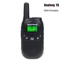 Baofeng BF T6 детская портативная мини рация, двухстороннее радио, 0,5 Вт, FRS PMR, портативное переговорное радио, приемопередатчик comunicador