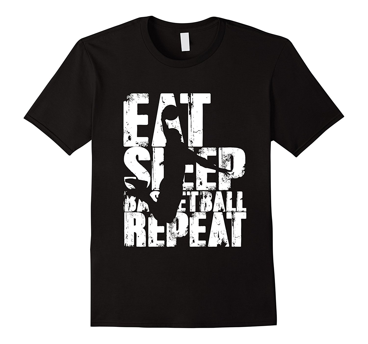 Eat Sleep Basketballer Repeat T-Shirt Gift for BBall Lovers Cotton T-Shirt Fashion T Shirt Free Shipping Simple Style