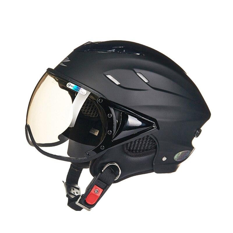 Sommer moto rcycle helm Elektrische fahrrad helm Vintage Roller halb helm moto casco Männer/frauen E-bike capacete