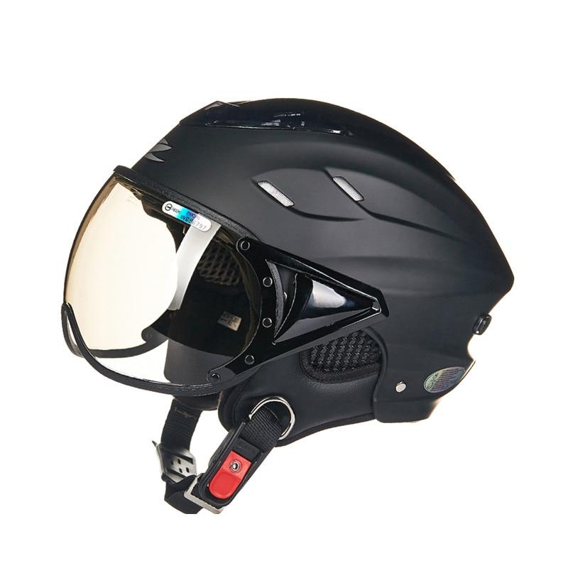 Summer motorcycle helmet Electric bicycle helmet Vintage ...