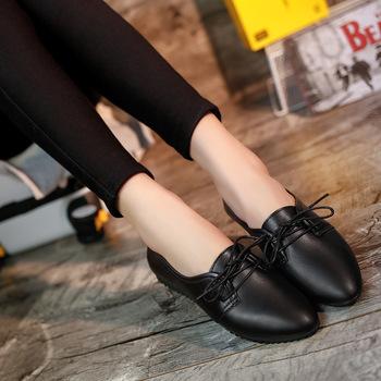 Bailehou klasyczne marki oksfordzie buty damskie Casual Pointed Toe buty damskie dla kobiet mieszkania wygodne wsuwane buty damskie buty kobieta tanie i dobre opinie Dla dorosłych RUBBER Poliuretanu Szpiczasty nosek Lace-up Wiązanej krzyżowe Na co dzień Wiosna jesień Pasuje prawda na wymiar weź swój normalny rozmiar