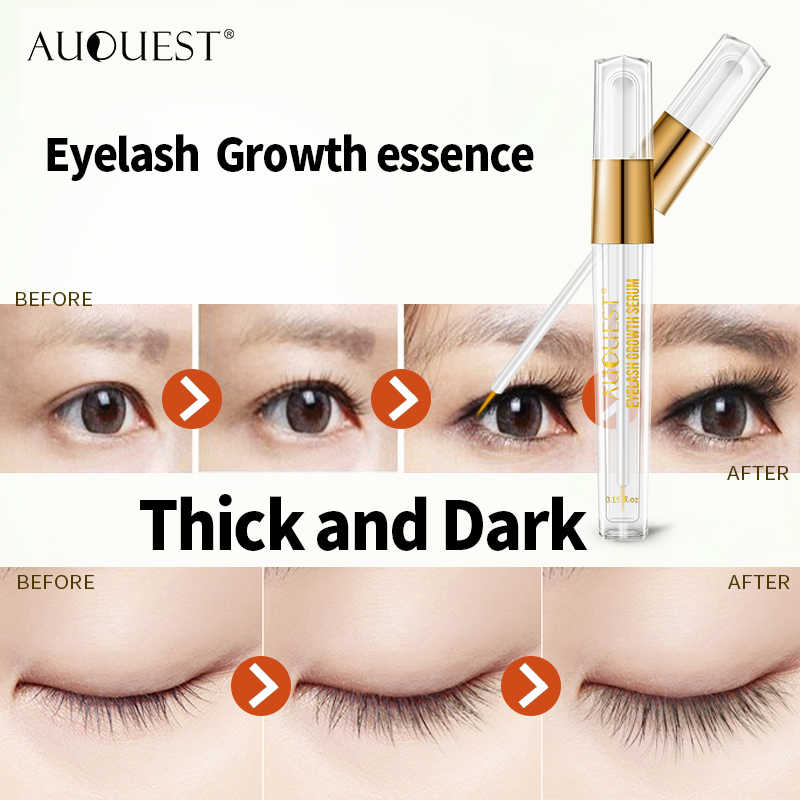 d097876d97c ... AuQuest Natural Eyelash Growth Serum Fuller Darker Longer Lashes  Extensions Eyelash Enhancer Lash Essence Lasher Beauty