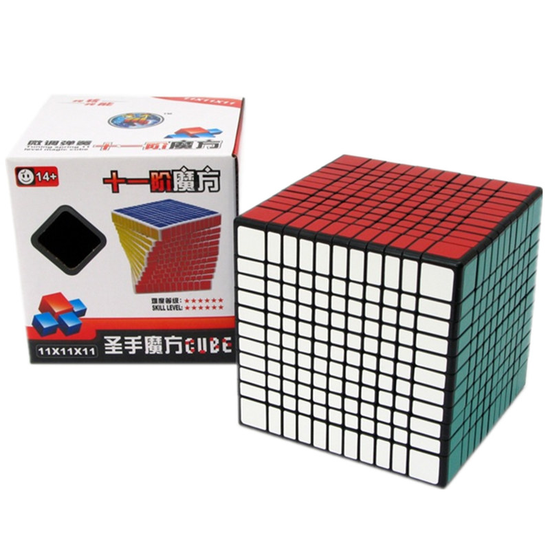 SHENGSHOU 11x11x11 CUBE  Magic Cube Black White Colors Puzzle Professional Speed Cube Magico Educational Toy