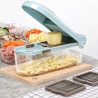 New Multi functional Vegetable Cutting Cubes Tools Mandoline Slicer Veggie Chopper Cutter Kitchen Gadgets