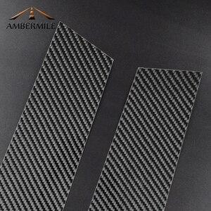 Image 4 - AMBERMILE for Mini Cooper F55 Countryman F60 Clubman F54 Accessories Carbon Fiber B Pillar Cover Trim Window Protection Stickers