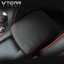 Vtear для Mazda 3 Axela 2017 2018 центральный подлокотник коробка Защита pu кожаный чехол интерьерные украшения аксессуары автомобиля-Стайлинг