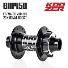 цена на Koozer BM450 Downhill 20mm Boost Bicycle Hub 32 Holes 20x110mm Disc Bearing FR AM DH MTB Mountain Bike Hubs