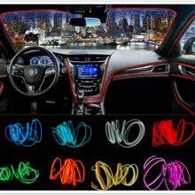 JURUS a pair 1m 2m 3meters cold el wire flexible neon car decorate interior light 12v