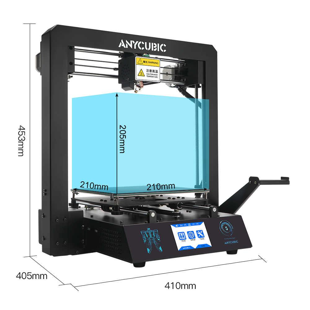 ANYCUBIC 3d принтер Mega-S обновление I3 Мега огромный объем сборки 3д ринтер металлическая рамка ультрабраз 3d принтер impresora 3d drucker