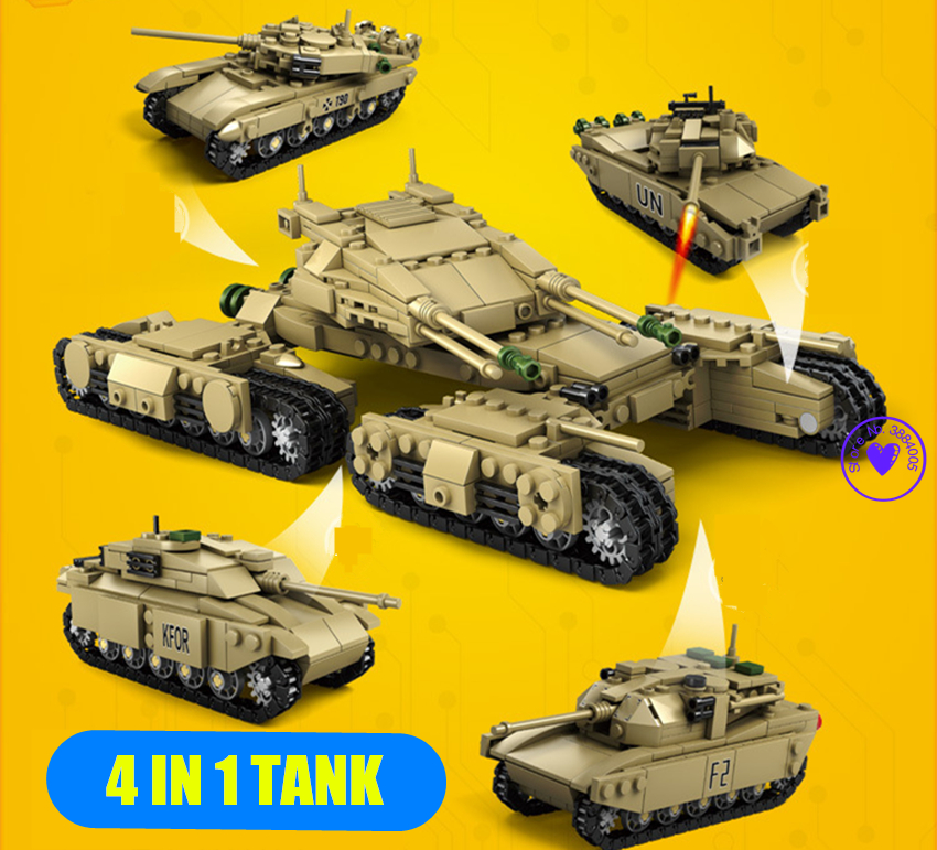 KAZI 4 styles Military wars Tank fit legoings Military army swat figures tank building Block bricks diy Toys figures gift Kids цена