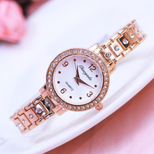 2018 new famous brand women girls luxury diamond rose gold sliver quartz watches
