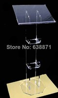 Free Shiping hot sale Clear Low Acrylic Pulpit/Lectern Podium/Church Lectern