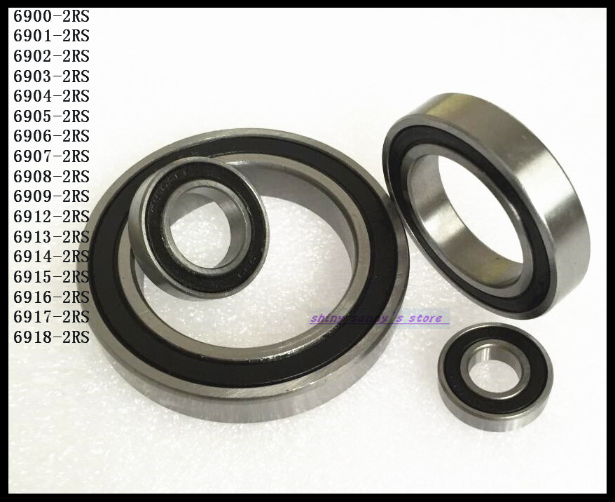 10pcs/Lot 6901-2RS 6901 RS 12x24x6mm The Rubber Sealing Cover Thin Wall Deep Groove Ball Bearing Brand New 10pcs lot 9x5x2 mm o rings rubber sealing o ring 9mm od x 2mm cs