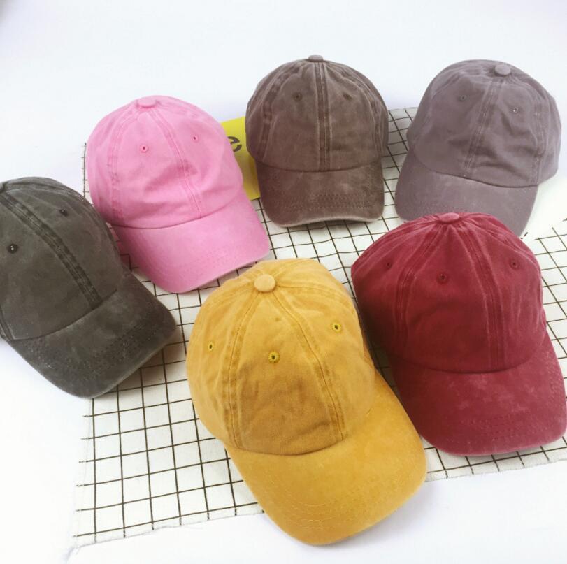 Fashion Solid Color Ball Cap Children Casual Plain Flat Adjustable Sun Hat Caps For Boys Girls Hip Hop Hat