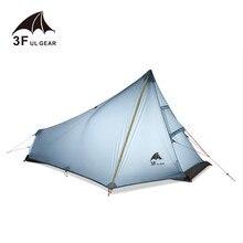 Oudoor tienda de campaña 3F UL GEAR ultraligera para 1 persona, profesional, de nailon 15D, de silicona, inalámbrica, equipo de Camping ligero