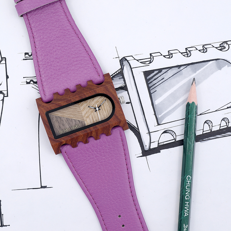BOBO BIRD New Designer Wooden Watches Women with PU Leather Strap Quartz Watch (1)