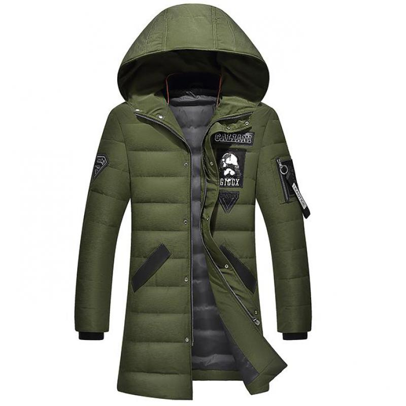 2018 New Fashion Autumn Winter Outwear Down Jacket Men Windproof Duck Down Parka Male Long Plus Size 4XL Thick Warm Coat,