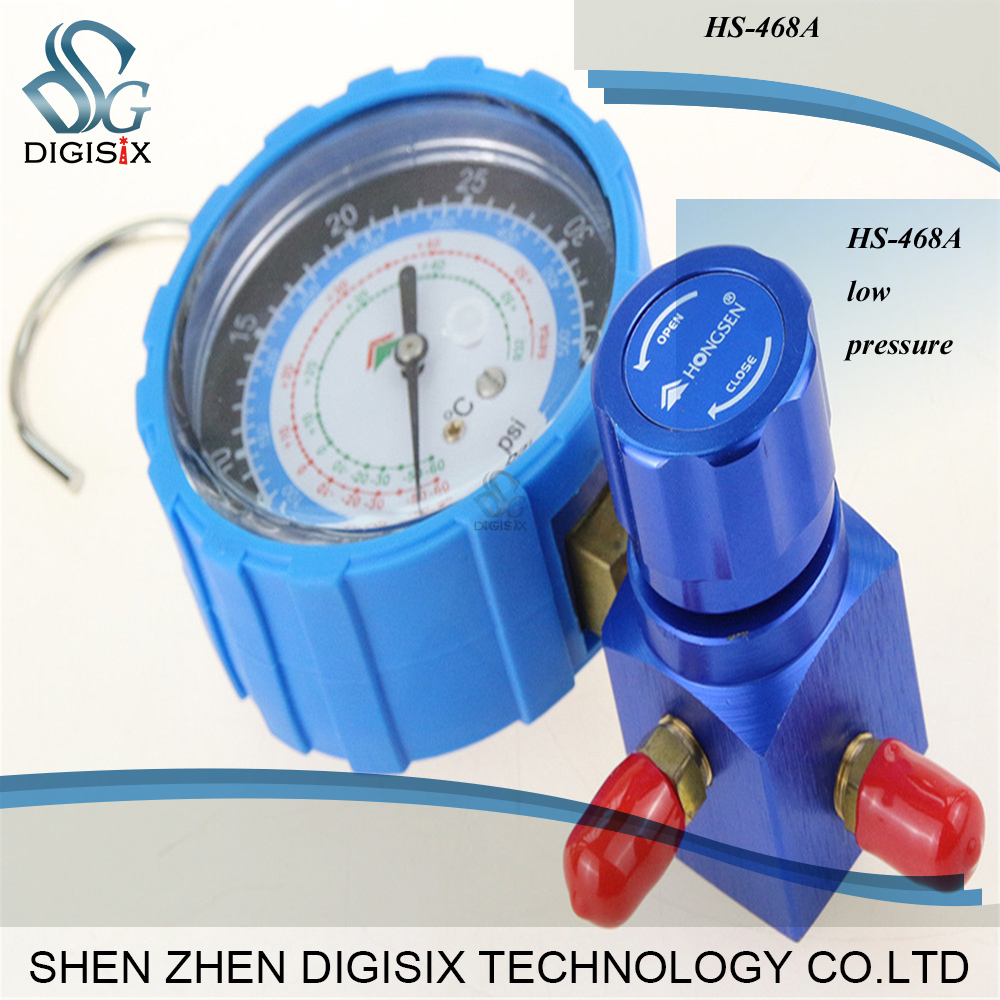 Free Shipping R410 HS-468A Low Pressure Air- Conditioning Refrigerant Grade Single Table Valve Pressure Gauge Diagnostic Dosing