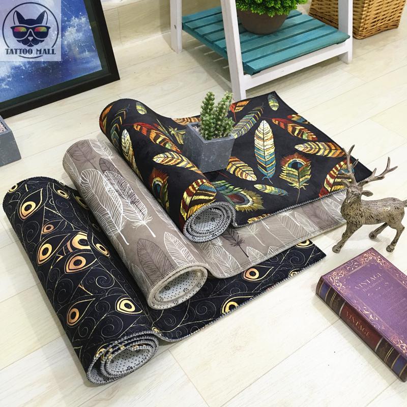 Plumeria pattern mats kitchen dirt-resistant non-slip carpet bedside plush rug can be customized bedroom non-slip door mat