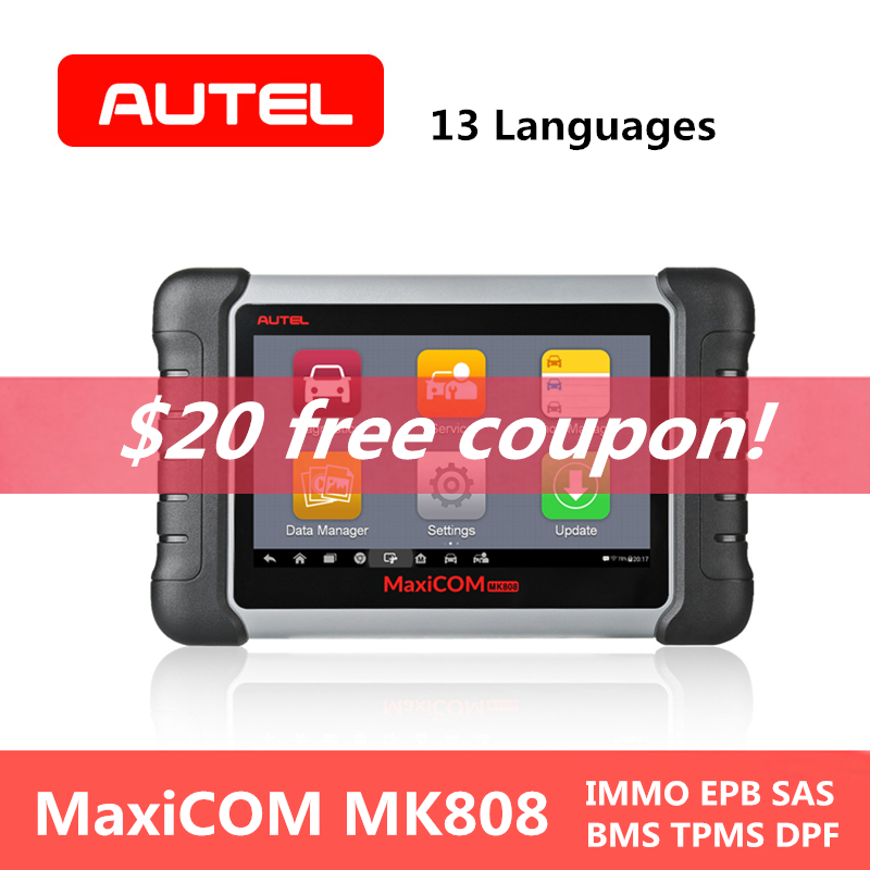 AUTEL MaxiCOM MK808 Automotive Car Diagnostic Tool Wifi IMMO EPB SAS BMS TPMS DP