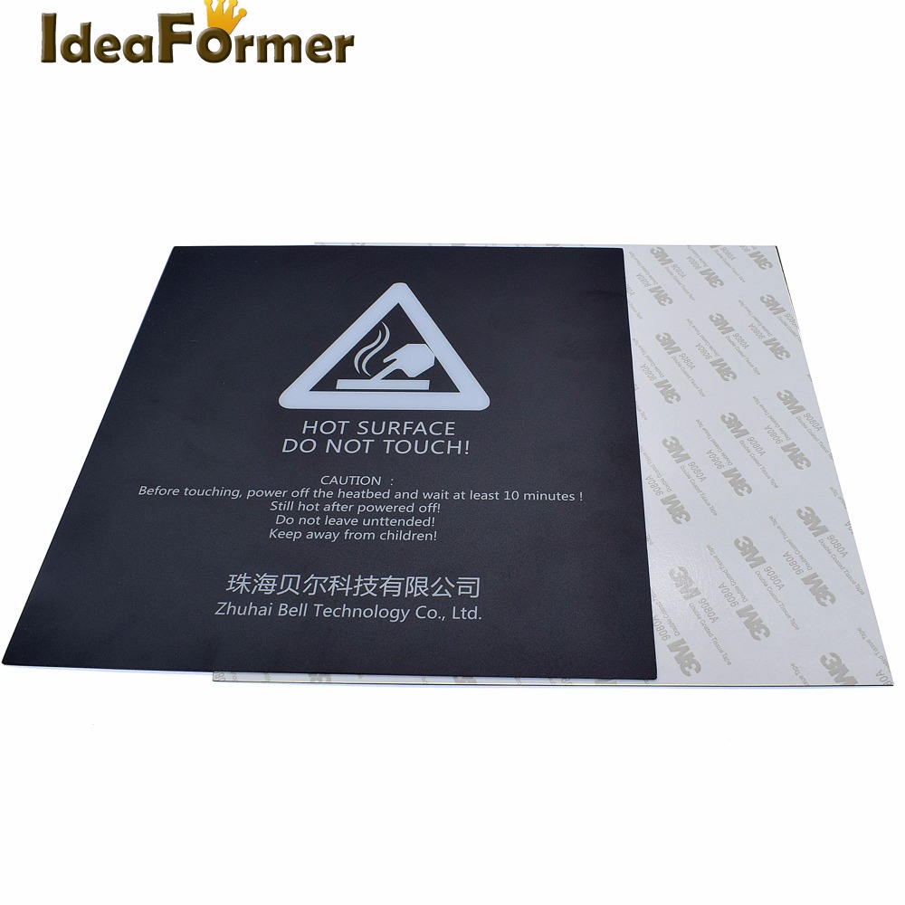 3D Printer Build Plate Tape Part Heat Hot Bed Sticker Adhesive Mat 200mmx200mm
