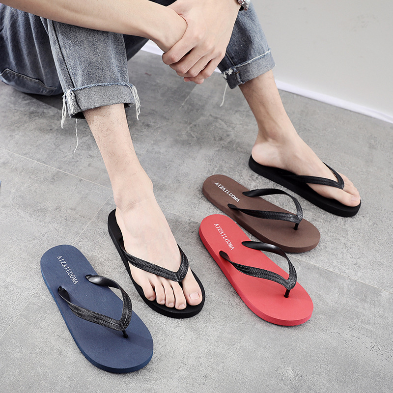 Mixed Slippers Men's Summer Korean Version Fashion Slip-proof And Leisure Sandals Men's Pure And Simple Fashion Beach Shoes