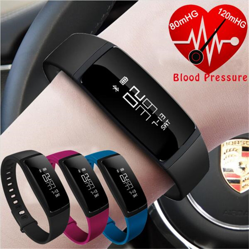 V07 Smart Wristband Band Heart Rate Monitor Blood Pressure Bracelets Fitness Tracker SmartBand For Android iOS vs fibit miband 2 lenovo hw02 smartband bluetooth heart rate monitor smart bracelet waterproof sport wristband fitness tracker for android ios