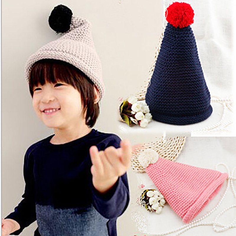 2015 New Winter Hat Baby Kids Cute Knitted  Hats Boys Girls Warm Beanies Caps  Freeshipping 2017 yhkgg the girl s hat warm and comfortable in winter hats the ornament of a flower cute baby hat knitting hat