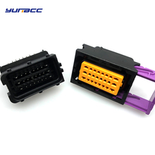 1set FCI 24pin Oil to gas computer board ECU plug Male and female auto car connector HCCPHPE24BKA90F 211PC249S0005 free shipping 5sets 24 hole black ecu plug in cng computer connector 211pc249s0005