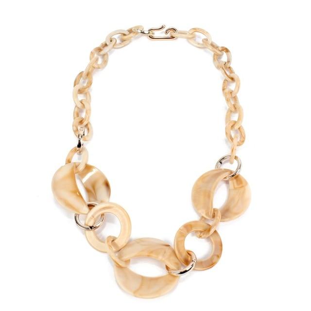 Купить женское ожерелье из ацетатной смолы массивное акриловое геометрическое