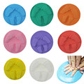 8 Colors New Baby Care Air Drying Soft Clay Baby Handprint Footprint Imprint Kit Casting Light Hand Print Inkpad Fingerprint