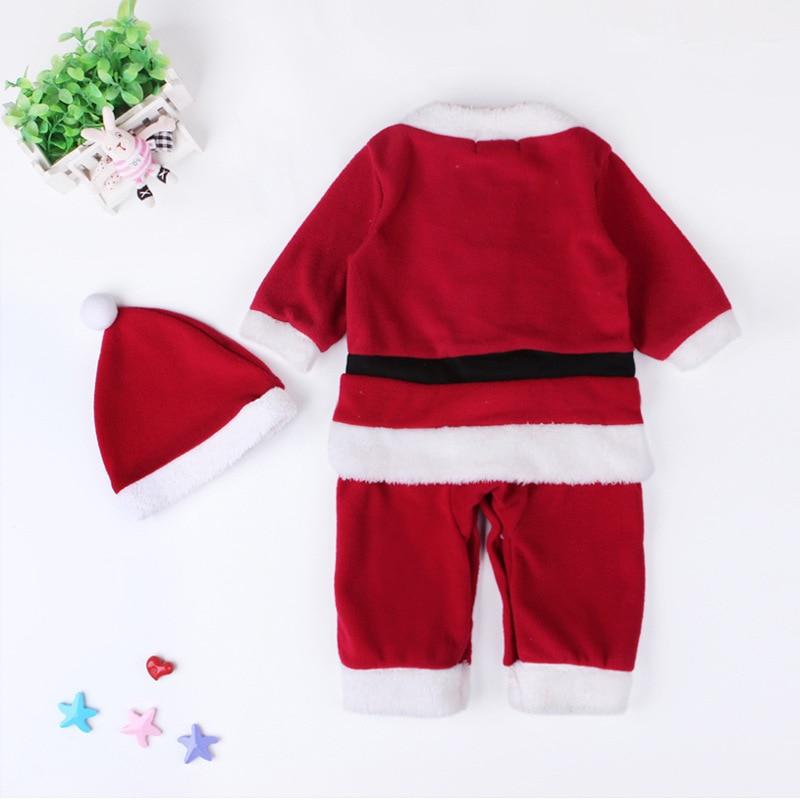 Baby Clothing Set Santa Clause Cosplay Costume Long Sleeve Girls